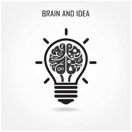 Creative brain Idea concept background design for poster flyer cover brochure