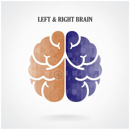brain and thinking: Creative left brain and right brain Idea concept background