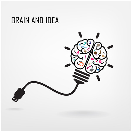 intelligence: Creative brain Idea concept background design