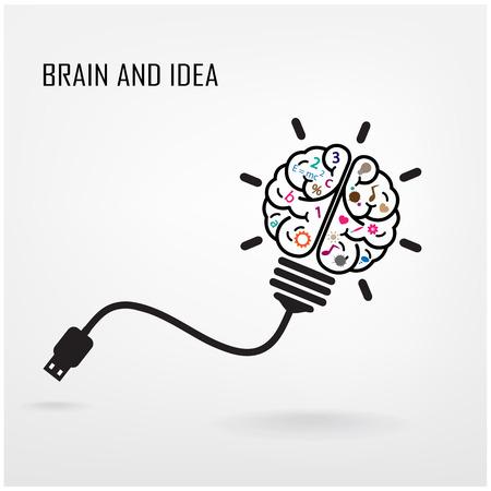 Creative cerveau Idea concept design fond Illustration