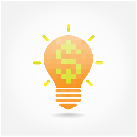 Creative light bulb symbol  Vector