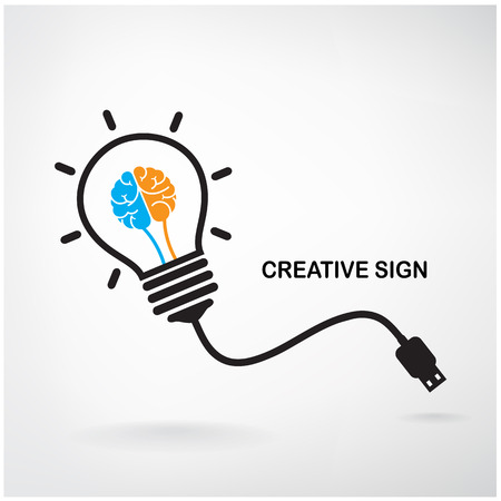 intelligence: Creative light bulb Idea concept background design for poster flyer cover brochure