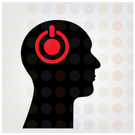 dea: Creative silhouette head brain Idea concept background design for poster flyer cover brochure ,business dea ,abstract background.vector illustration