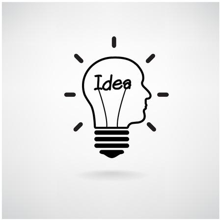 Creative ampoule concept design idée de fond pour la brochure de couverture affiche flyer, idée d'entreprise, abstraite background.Vector illustration Banque d'images - 26563129