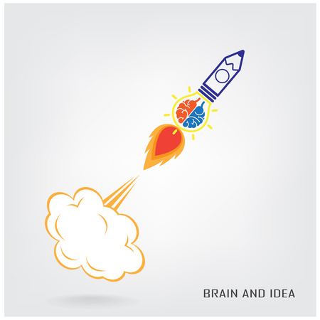 pensamiento creativo: Diseño de fondo del concepto de la idea del cerebro creativo para folleto cubierta aviador cartel, dea de negocios, fondo abstracto ilustración vectorial contiene malla de degradado
