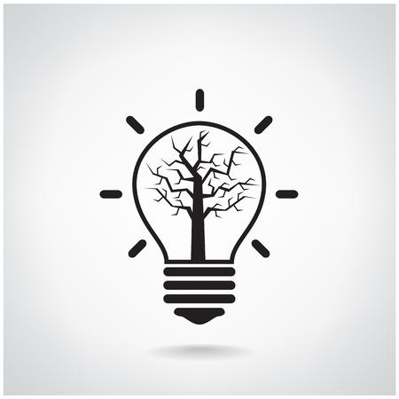 vintagel: Creative light bulb Idea concept background design for poster flyer cover brochure ,business idea ,abstract background vector illustration