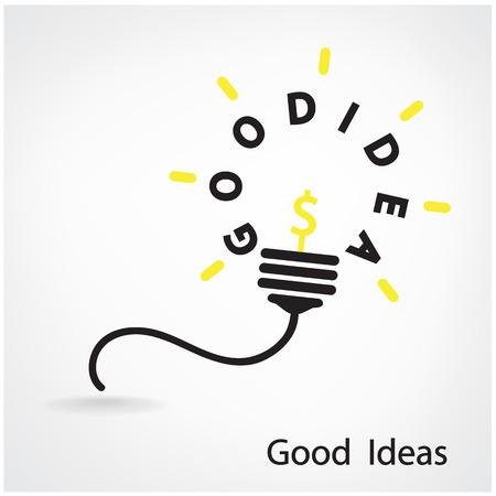 conection: Dise�o de fondo del concepto de la luz de bulbo Idea Creativa para el folleto cubierta aviador cartel, idea de negocio, fondo abstracto ilustraci�n vectorial