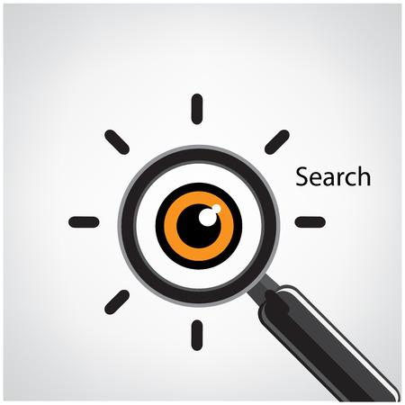 eye glass: search symbol,business ideas vector illustration Illustration