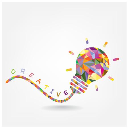 Creative ampoule concept design idée de fond pour la brochure de couverture affiche flyer, idée d'entreprise, abstraite background.Vector illustration contient filet de dégradé Banque d'images - 26931797