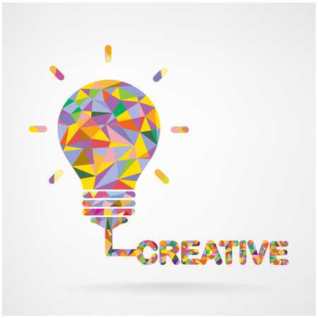 Creative light bulb Idea concept background design for poster flyer cover brochure ,business idea ,abstract background.vector illustration contains gradient mesh