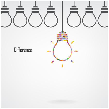 Creative ampoule Idea concept design pour la brochure de couverture affiche flyer, idée d'entreprise, abstrait contient filet de dégradé Banque d'images - 27462450
