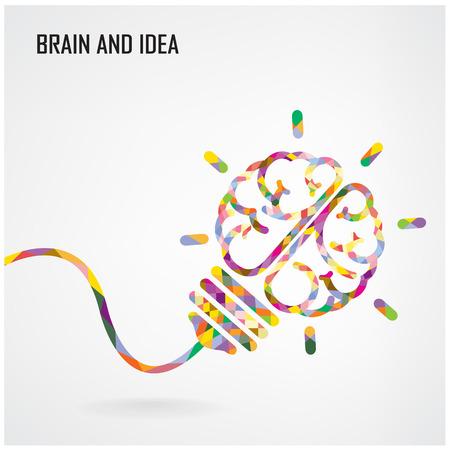 conocimiento: Bombilla creativa Vectores
