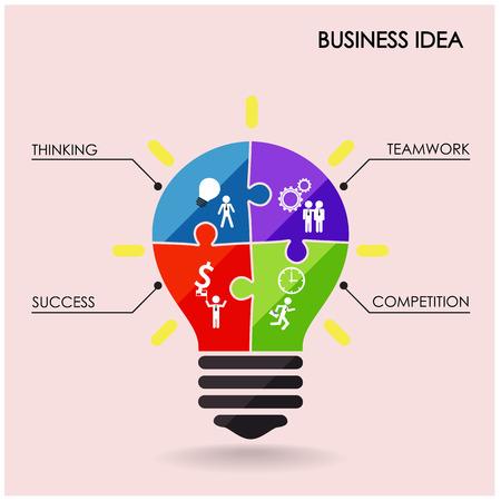 Creative light bulb idea concept  Illustration