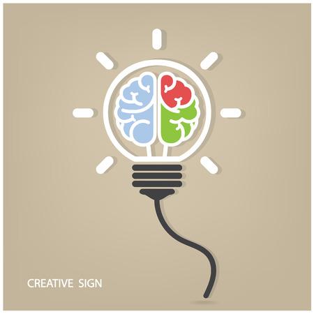 Lumière Creative ampoule Idée concept design fond pour la couverture affiche flyer brochure, idée d'entreprise, résumé background.vector illustration contient filet de dégradé Banque d'images - 28036944
