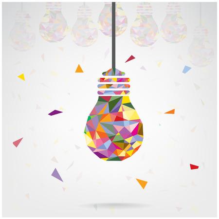 Creative ampoule conception Idea concept de base pour la brochure de couverture affiche flyer, idée d'entreprise, abstraite background.Vector illustration contient filet de dégradé Banque d'images - 28441379