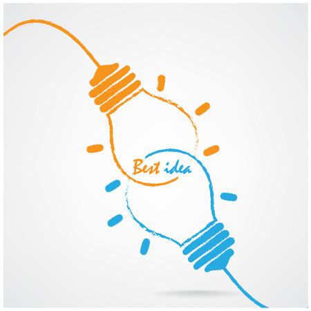Lumière Creative ampoule Idée concept design fond pour la couverture affiche flyer brochure, idée d'entreprise, résumé background.vector illustration contient filet de dégradé Banque d'images - 28459243