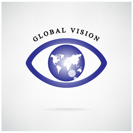 global vision sign,eye icon,search symbol,business concept.vector illustration ,credit :NASA