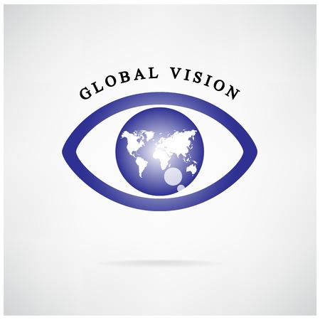 signe de vision globale, icône de l'?il, symbole de recherche, concept.vector entreprise illustration, crédit: NASA