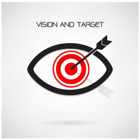 Vision and target concept ,eye symbol,business idea ,abstract background.vector illustration contains gradient mesh Vector