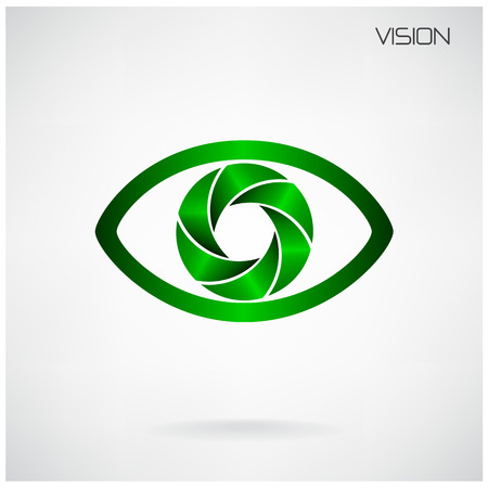 global vision eye sign Vector