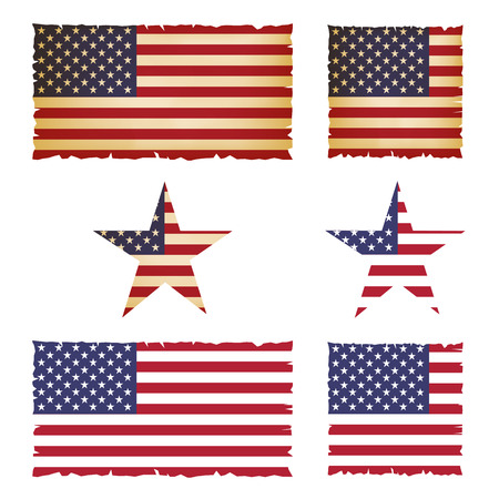 united stated: United Stated flag illustration