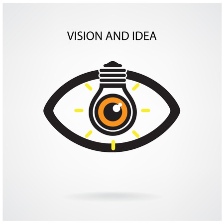differential: Vision and creative light bulb idea concept