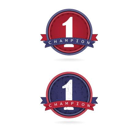 number one label design,first sign vector illustration Vector