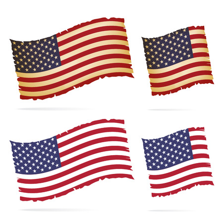stated: United Stated flag vector illustration