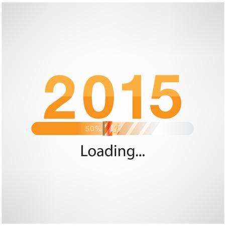 internet movil: Nuevo a�o 2015 la carga de fondo, feliz ilustraci�n template.Vector a�o nuevo
