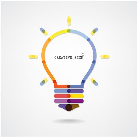 znalost: Kreativní žárovka nápad pojmu pozadí, design pro plakát flyer krycí brožuře, podnikatelský záměr, abstraktní background.vector ilustrace