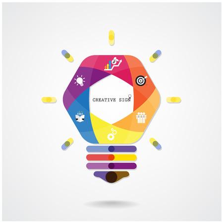 Notion ampoule Creative Idea fond Banque d'images - 30047000