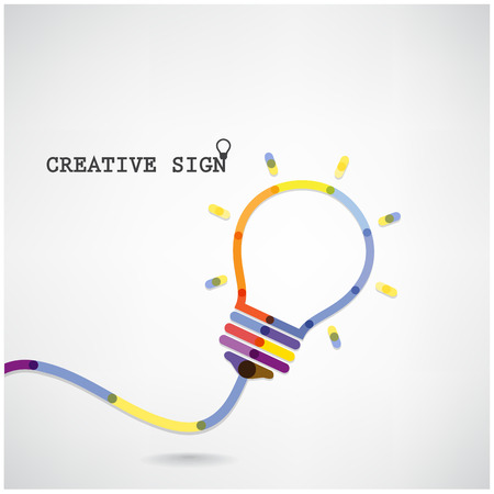 knowledge business: Creative light bulb Idea concept background