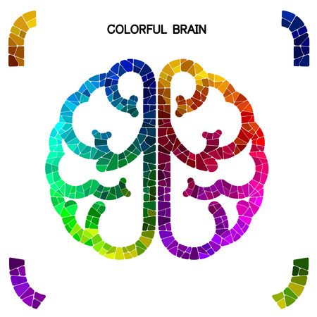 left right: Creative colorful left brain and right brain Idea concept background  vector illustration
