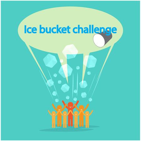 Ice Bucket Challenge concept. Vector illustration Ilustração