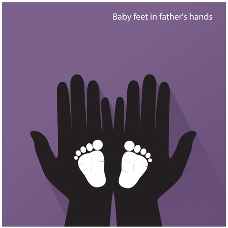 firstborn: Baby feet in mother