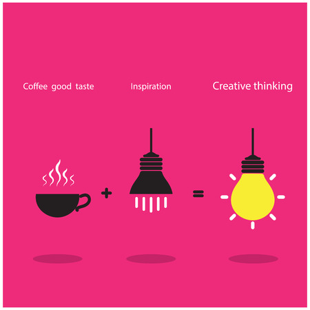 The good idea accomplish inspiration and coffee good taste can be created the best job. vector illustration Vector
