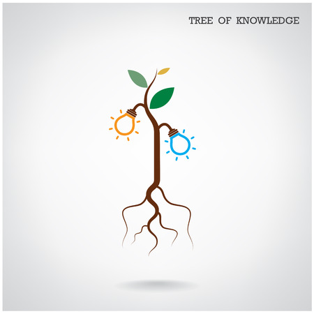 Tree of Knowledge concept. Education and business sign. Vector illustration Vector