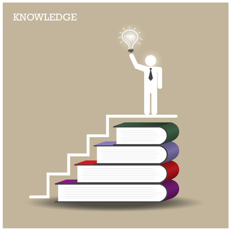 Knowledge and learning concept. Vector illustration Vector