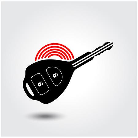 remote lock: Coche s�mbolo de la llave. Ilustraci�n vectorial Vectores