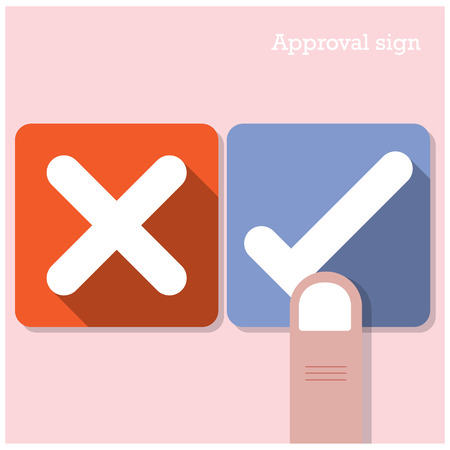 Approval concept. The best choice icons.