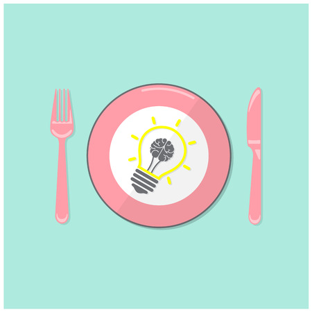 creative thinking: Creative light bulb idea and brain concept background ,business concept.