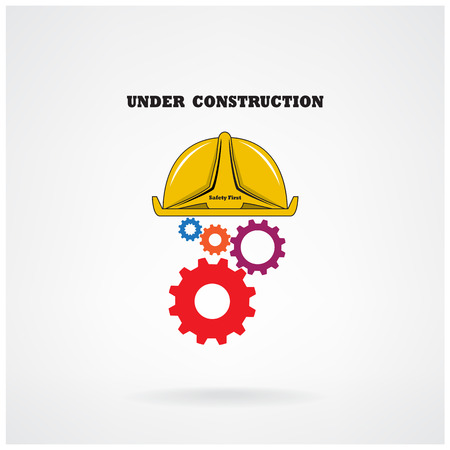 Under construction conceptual background.Design for banners ,poster,flyer ,cover and brochure. Education idea ,business idea .vector illustration Vector