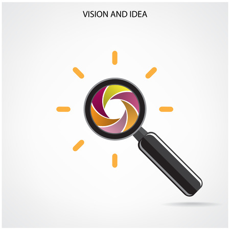 search and vision symbol,business ideas.vector illustration Vector
