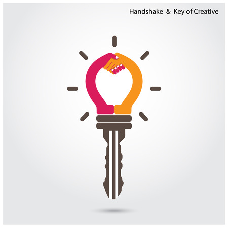 leadership key: illustration have three definitions on business field Illustration