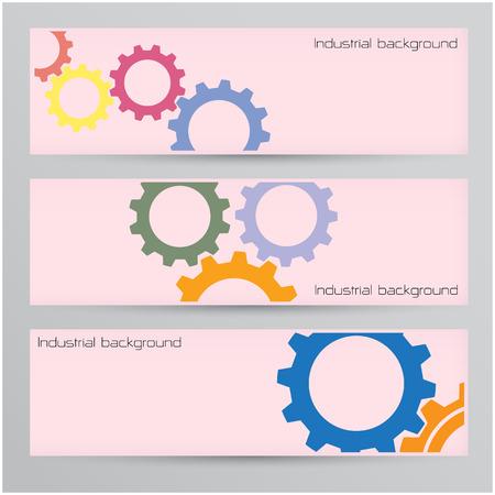 Industrial banner background concept.  Ilustração