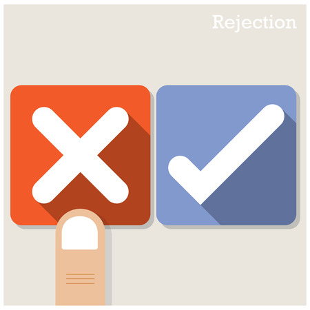 rejection: Rejection concept.