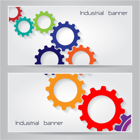 Industrial banner background concept. Can be used for cover design, website background or advertising.Vector illustration Vector