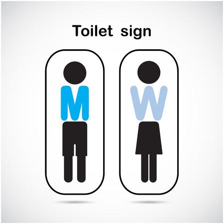 genders: Man and woman toilet sign, restroom symbol . Vector illustration Illustration