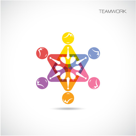 Team Partners Friends sign design vector template. Together union symbol of friendship. Business Teamwork cooperation icon. Vector illustration Vector
