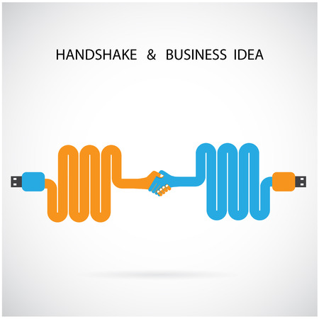 Handshake abstract sign design template. Business creative concept. Vector illustration Vector